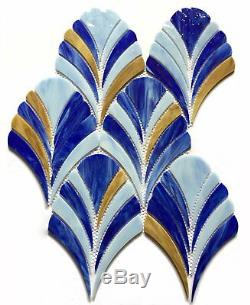 MOSAIC Stained Glass Tile Glass Floor and Wall Tile Stained glass (10 Pcs)