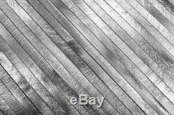 MOSAIC tile aluminum composite brushed silver kitchen wall 49-L101F f 10 sheet