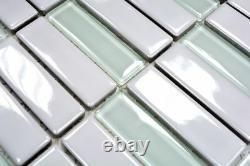 MOSAIC tile ceramic glass chopsticks white glossy bathroom 24-ST315 f 10 sheet