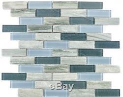 MOSAIC tile ceramic glass gray chopsticks trinity glass wall 26-0202 f 10 sheet