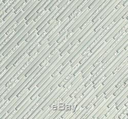 MSI GLSIL-IF8MM 12 x 12 Linear Mosaic Wall Tile Smooth Glass MultiColor