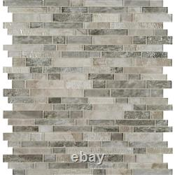 MSI Glass Wall Tile 12 in. X 12 in. Mosaic Savoy Interlocking(10 sq. Ft. / case)