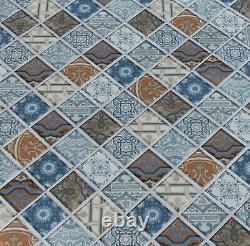 MSI P-SMOT-GLS-6MM 12 x 12 Square Mosaic Walls Tile Glossy Pasadena