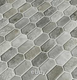 MSI SMOT-GLSPK-8MM 10 x 12 Hexagon Dot-Mounted Mosaic Wall Tile Taos