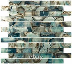 MSI SMOT-GLSST-8MM-V2 12 x 12 Brick Mosaic Wall Tile Glossy Night Sky