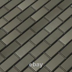MSI SMOT-PNS-BEV-4MM 12 x 12 Brick Mosaic Wall Tile Glossy Crisson