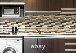 MSI SMOT-SGLSIL-4MM-V1 12 x 12 Linear Mosaic Wall Tile Glossy Sonoma
