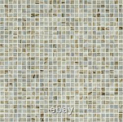 MSI THDW3-SH-3/4X3/4GL 1 Square Mosaic Tile Glossy Glass Ivory Iridescent