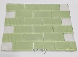 MS International Mint Green Subway 2x4 Glass Mesh-Mounted Mosaic Wall Tile Retro