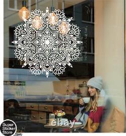 Mandala Rosetta Wall Art Stickers Window front Coffee Decal Home Bedroom New