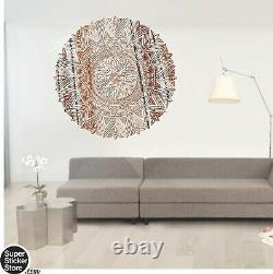 Mandala Wall Art Stickers Window Coffee Shop Decal Bedroom Yoga India Rosetta