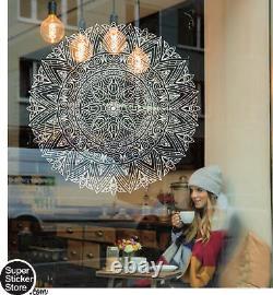 Mandala Wall Art Stickers Window Coffee Shop Decal Home Bedroom India Rosetta