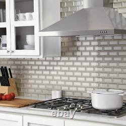 Marazzi Silver Glass Brick Joint Mosaic Wall Tile (lot of 10) ST0624BJMS1P