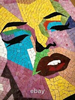 Marilyn Monroe Glass Mosaic Handcut Handmade Customized Wall Tiles