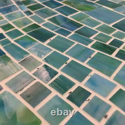Medici and Co GLNRJAZMA Jazz Varying Wave Mosaic Wall Tile - Azul