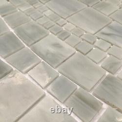 Medici and Co GLNRJAZMA Jazz Varying Wave Mosaic Wall Tile - Bianco