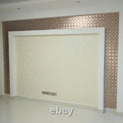 Metal Peel and Stick Backsplash Tile Kitchen/Bathroom Wall Sticker Mural 12x12'