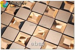 Metal glass mosaic tile crystal stainless glass mosaic kitchen backsplash bathro