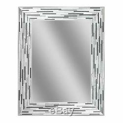 Mirror Headwest Reeded Charcoal Tiles Wall Mirror, 30 inches x 24 inches, 30x24