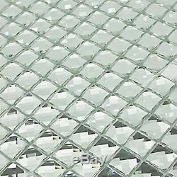 Mirror Tiles Silver Bathroom Wall Sheets Crystal Diamond Mosaic Tile Backspla
