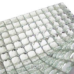 Mirror Tiles Silver Bathroom Wall Sheets Crystal Diamond Mosaic Tile Backsplash
