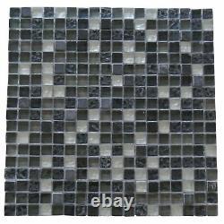 Miseno MT-EARTH5/8SQ Earth 1 X 1 Glass Visual Wall Tile - Blue
