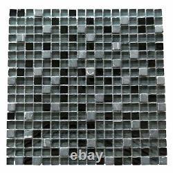 Miseno MT-EARTH5/8SQ Earth 1 X 1 Glass Visual Wall Tile - Grey