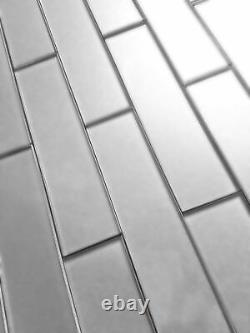 Miseno MT-WHSFOM0208-ES Forever 2 x 8 Rectangle Wall Tile - Silver
