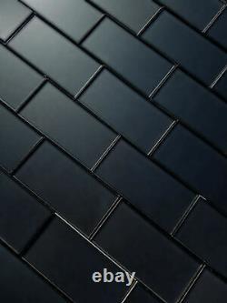 Miseno MT-WHSFOM0306-ER Forever 3 x 6 Rectangle Wall Tile - Black