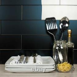 Miseno MT-WHSFOM0416-ER Forever 4 x 16 Rectangle Wall Tile - Black