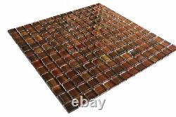 Miseno MT-WHSHDCSQ-FR Handicraft II 1 Square Wall Mosaic Tile Red