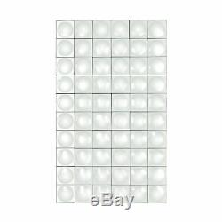 Modern Geometric Mirror Tiles Rectangular Wall Mirror Made Of Glass In Clear