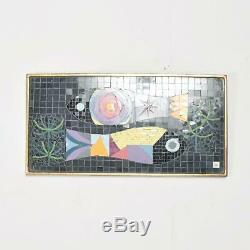 Modern Mosaic Glass Tiles Wall Art Fish signed JK Jennifer Kuhns