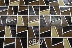 Molen Brown Textured and Platinum Mosaic Tiles Backsplash/Bathroom Tile