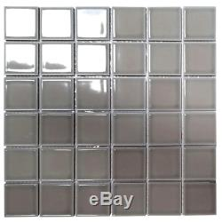 Monet Pebble Gray Square Mosaic 2 In. X 2 In. Porcelain Wall Tile 20.160 Sq. Ft