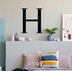 Monogram Single Letter Wall Sticker Decal Personalised Bespoke Vinyl