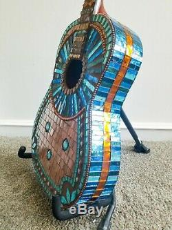 Mosaic Guitar Wall Art Stained Glass Glass Tile Great Gift for Music Lover 36