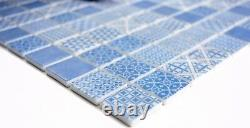 Mosaic Retro vintage tile ECO recycled GLASS blue patchwork 145-P-40 f 10 sheet