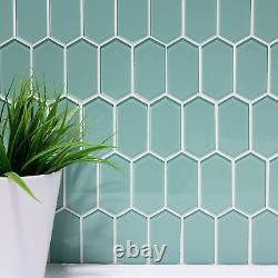 Mosaic Tiles Glass Crafts Projects Decorations Long Hexagon Indoor Wall Decors
