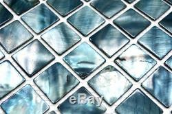 Mosaic nacre shell tile Square blue grey wall kitchen bath 150-SM2582 f 10sheet