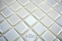Mosaic tile ECO recycling GLASS ECO white metallic floor wall 350-02 f 10 sheet