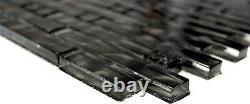 Mosaic tile chic black with glass Art 87-MV708 10 sheet