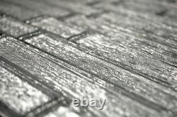 Mosaic tile chic silver with glass Art 86-8CSV 10 sheet