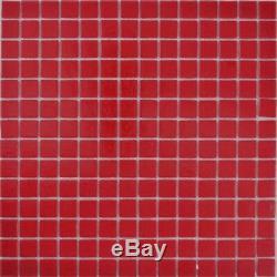 Mosaic tile glass red floor wall bath toilet kitchen mirror 200-A96-N f 10sheet