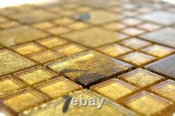 Mosaic tile mix champagne gold with glass Art 88-8DSG 10 sheet