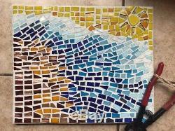 Mosaics Wall Art Interior Live nautical wave Design Tile