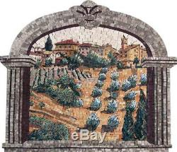 Natural Scene Mosaic Kitchen Mosaic Wall Art Scenery Tile
