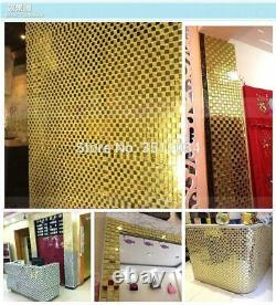 New coming Gold color Glass Tile Mosaic 1box 11 pieces Glass Mosaic Tile 12 x 12
