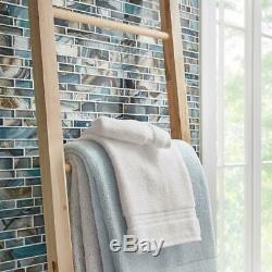 Night Sky Interlock 11.81 In. X 11.81 In. X 8Mm Glass Mesh Mounted Mosaic Tile