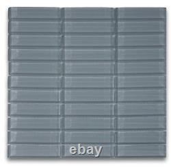 Ocean 1x2 Mini Glass Subway Tile for Backsplashes, Showers & More BOX OF 11